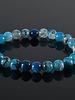JayC's Bracelet men Clear Blue