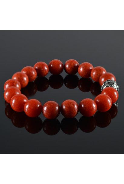 Men's bracelet Red Coral