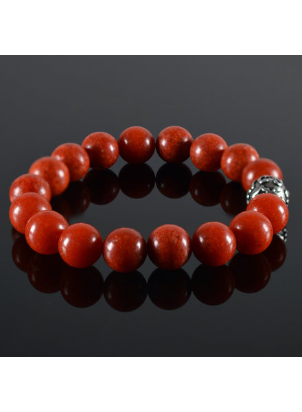 JayC's Heren armband Red Coral