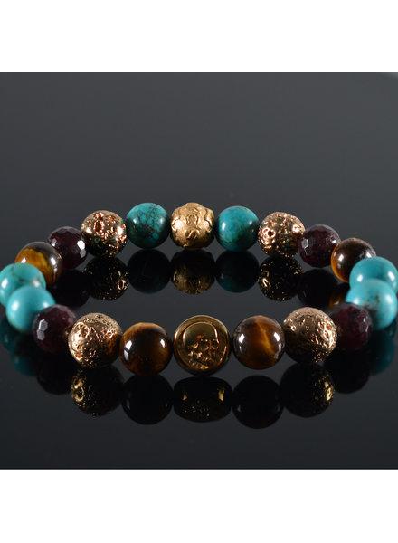 JayC's Men's bracelet Kintamani Skull