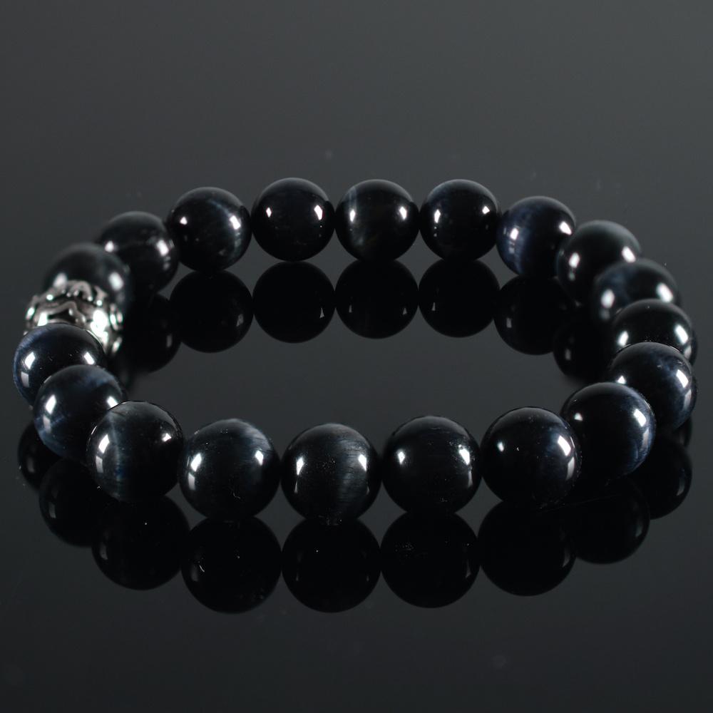 JayC's Bracelet men Tiger-Eye darkblue