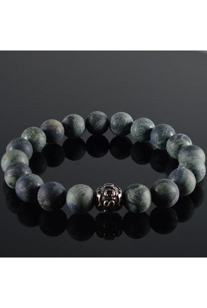 Men's bracelet Vert Fonce Mat