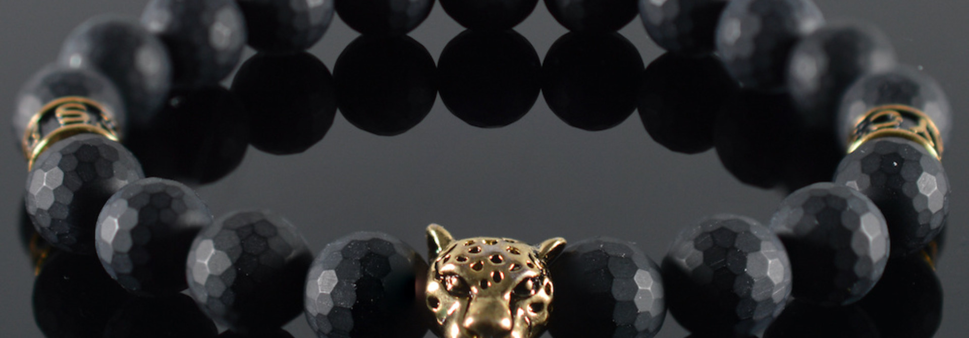 Armband heren Panther Black Mood II