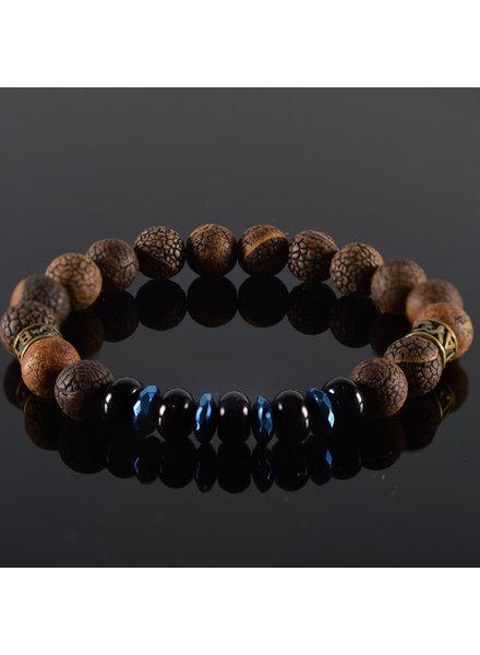 JayC's Men's bracelet Black Pearl