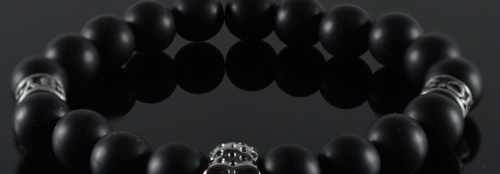 Armband heren Skull Black Invite II