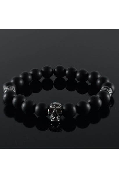 Men's Bracelet Black Invite Skull II