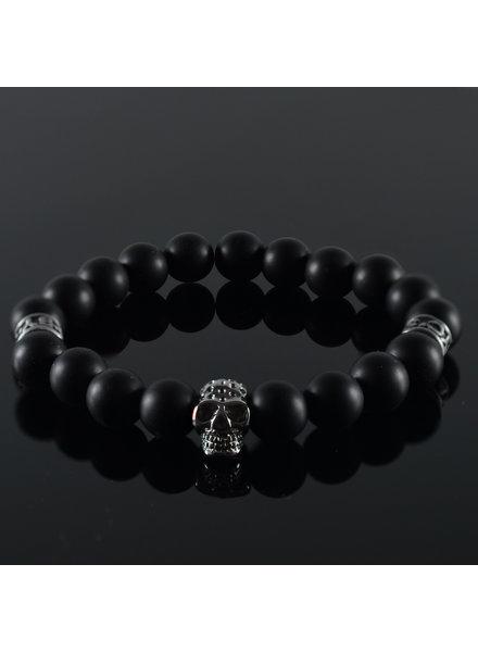 JayC's Heren armband Black Invite Skull II