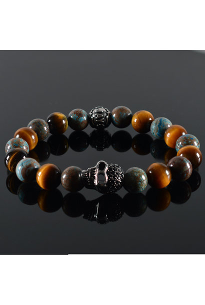 Men's bracelet Pearl Harbor Skull