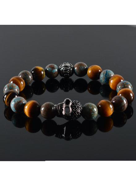 JayC's Men's bracelet Pearl Harbor Skull