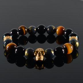 Armband heren Oris Skull Gold