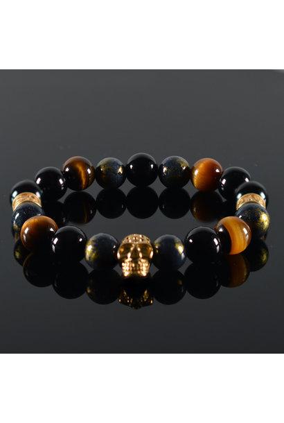 Heren armband  Oris Skull Gold