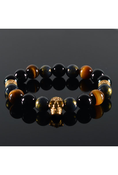 Herren  Armband Oris Skull Gold