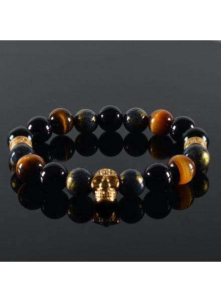 JayC's Heren armband  Oris Skull Gold