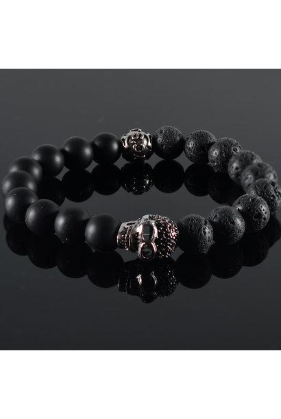 Men's bracelet Black Skully