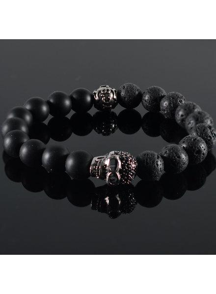 JayC's Men's bracelet Black Skully