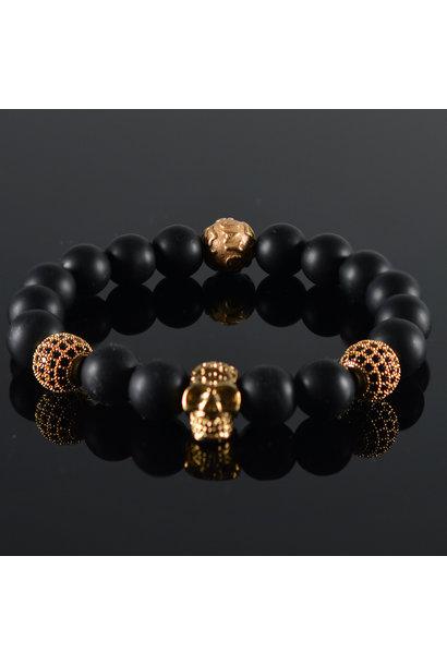 Men's Bracelet Renovo Skull Black