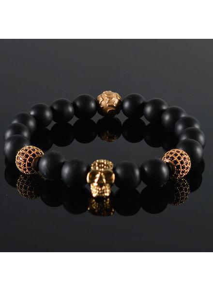 JayC's Men's Bracelet Renovo Skull Black