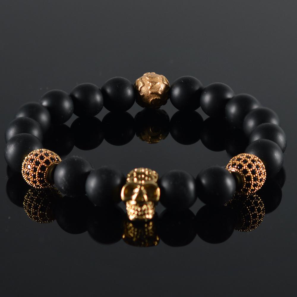 Armband heren Renovo Skull Black-1