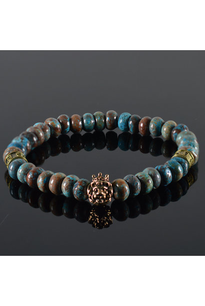 Men's bracelet Te Amo Lion's head