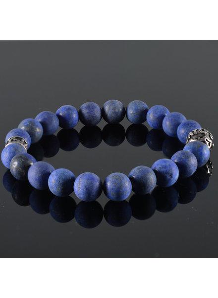 JayC's Heren armband Bleu Fonce Mat