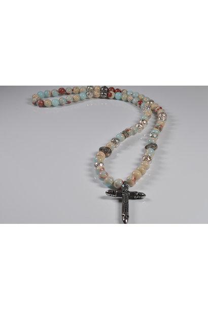 Men's Necklace Beluga Cross