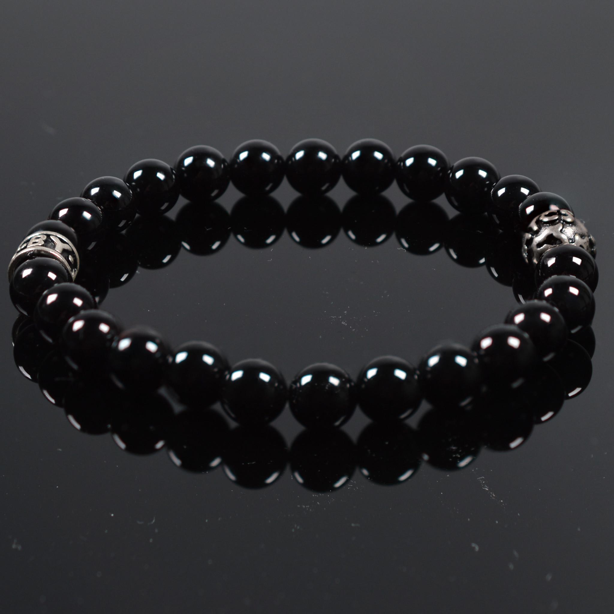 Armband heren Noir Brillant-1