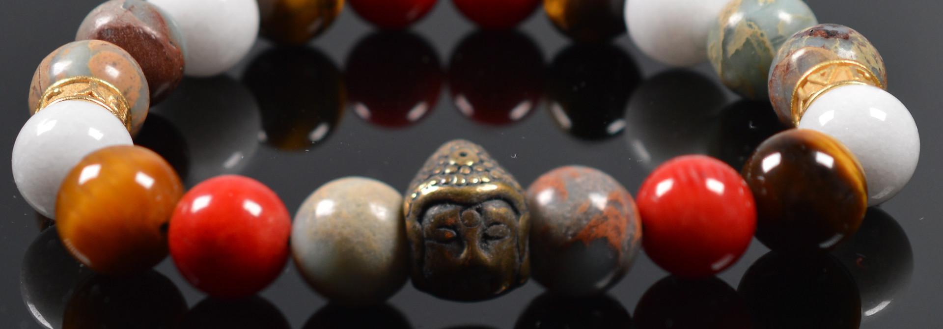 Armband heren Buddha Tricolore