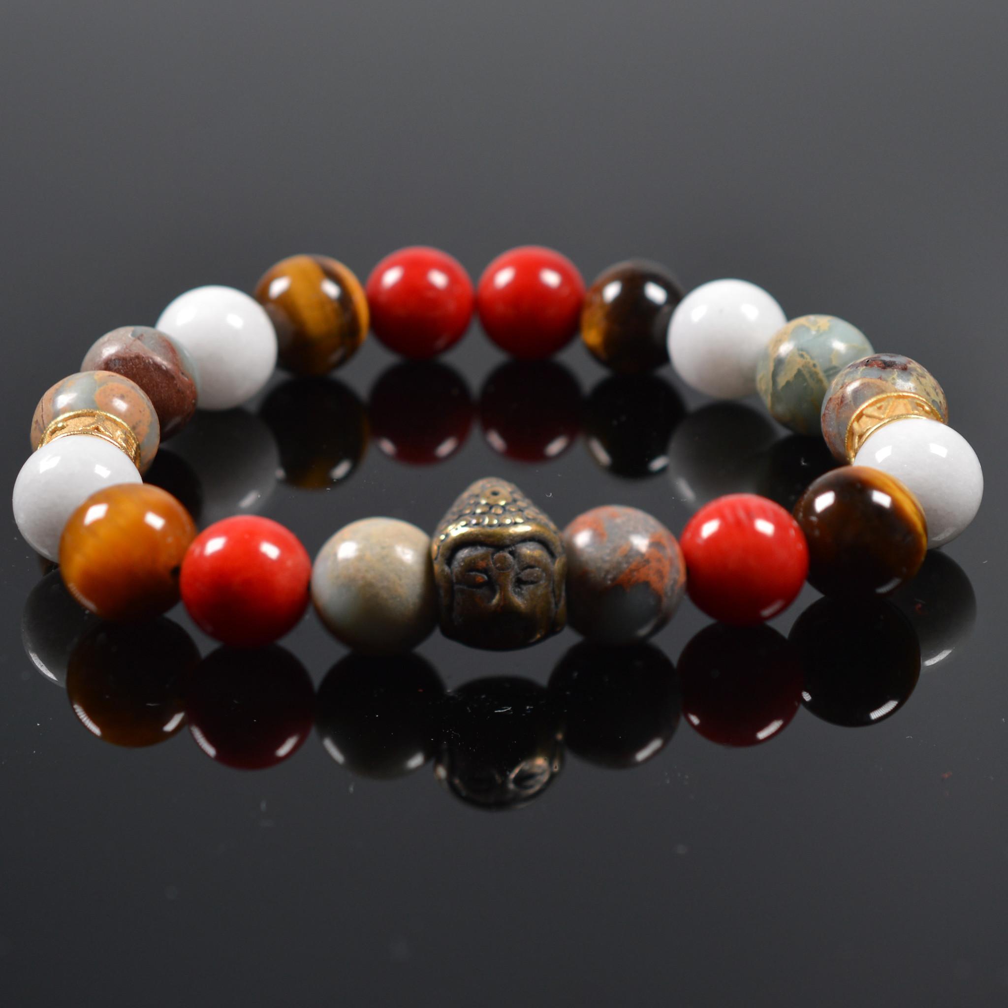 Armband heren Buddha Tricolore-1