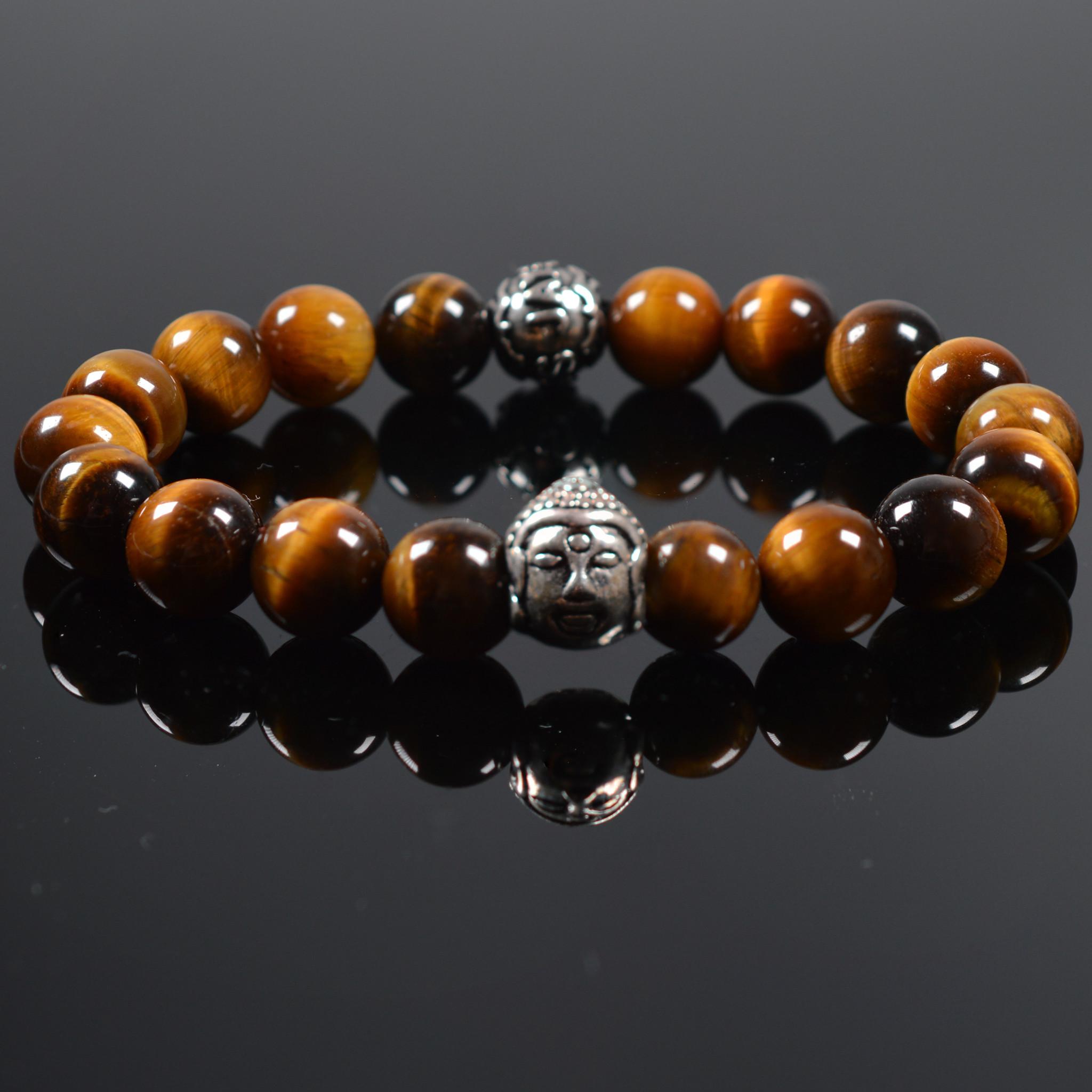 Armband heren Buddha Damask-1