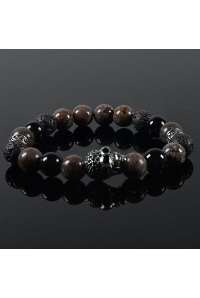 Men's bracelet Burgundy Skull
