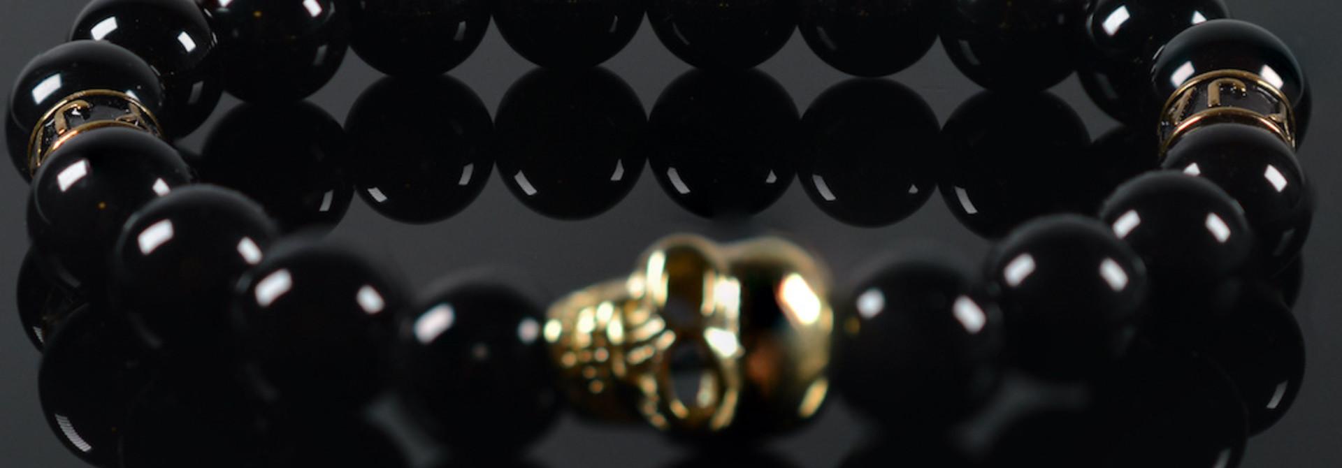 Armband heren Black Mykonos Skull