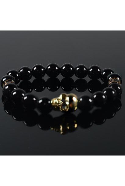 Heren armband Black  Mykonos Skull
