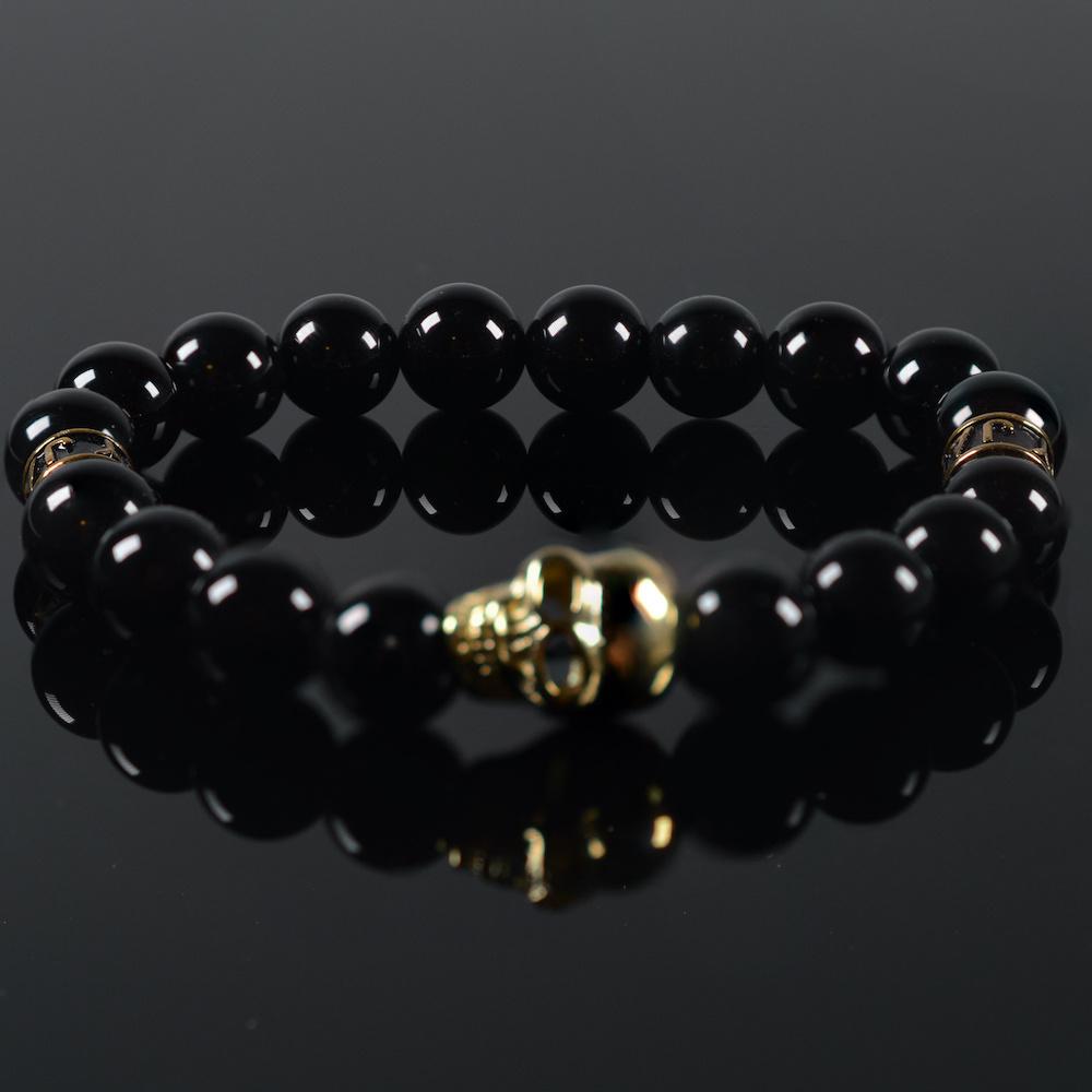 Armband heren Black Mykonos Skull-1