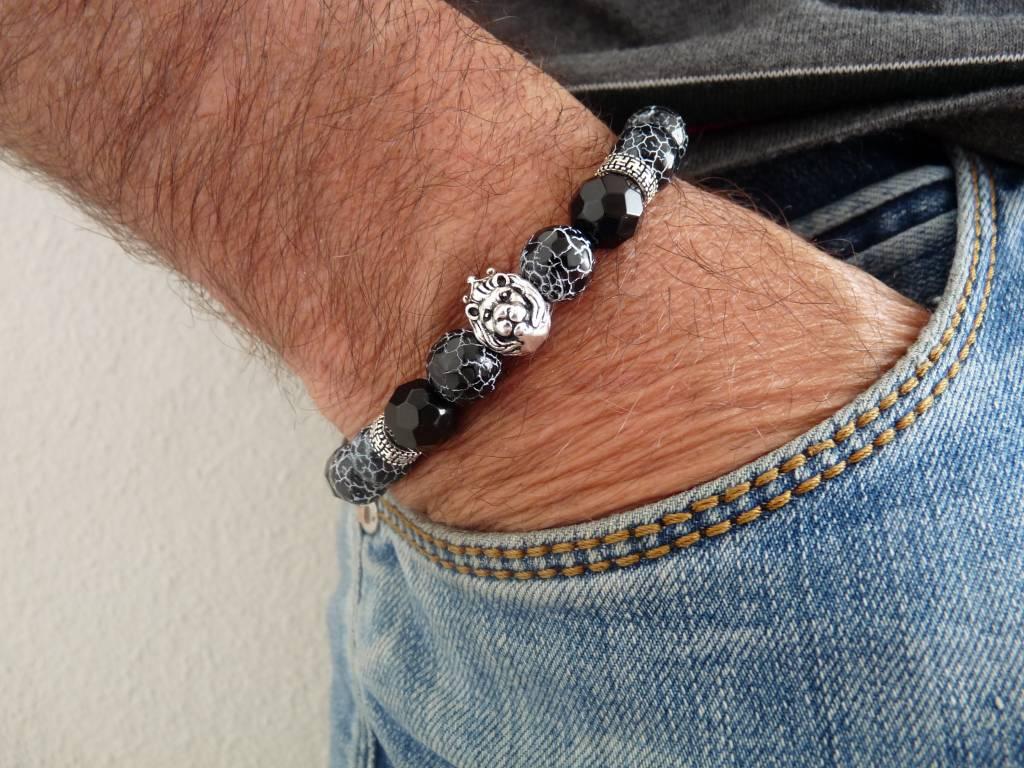 Armband heren Lionhead Crackle Jack-2