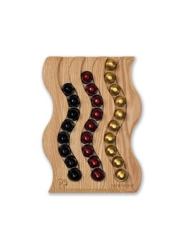 Coffee Capsule Holder Swing III in Red Oak