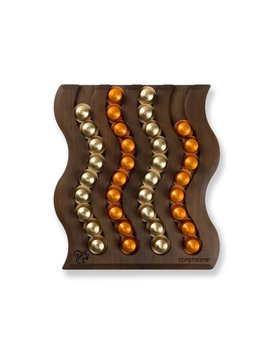 Coffee Capsule Holder Swing IV in Walnut