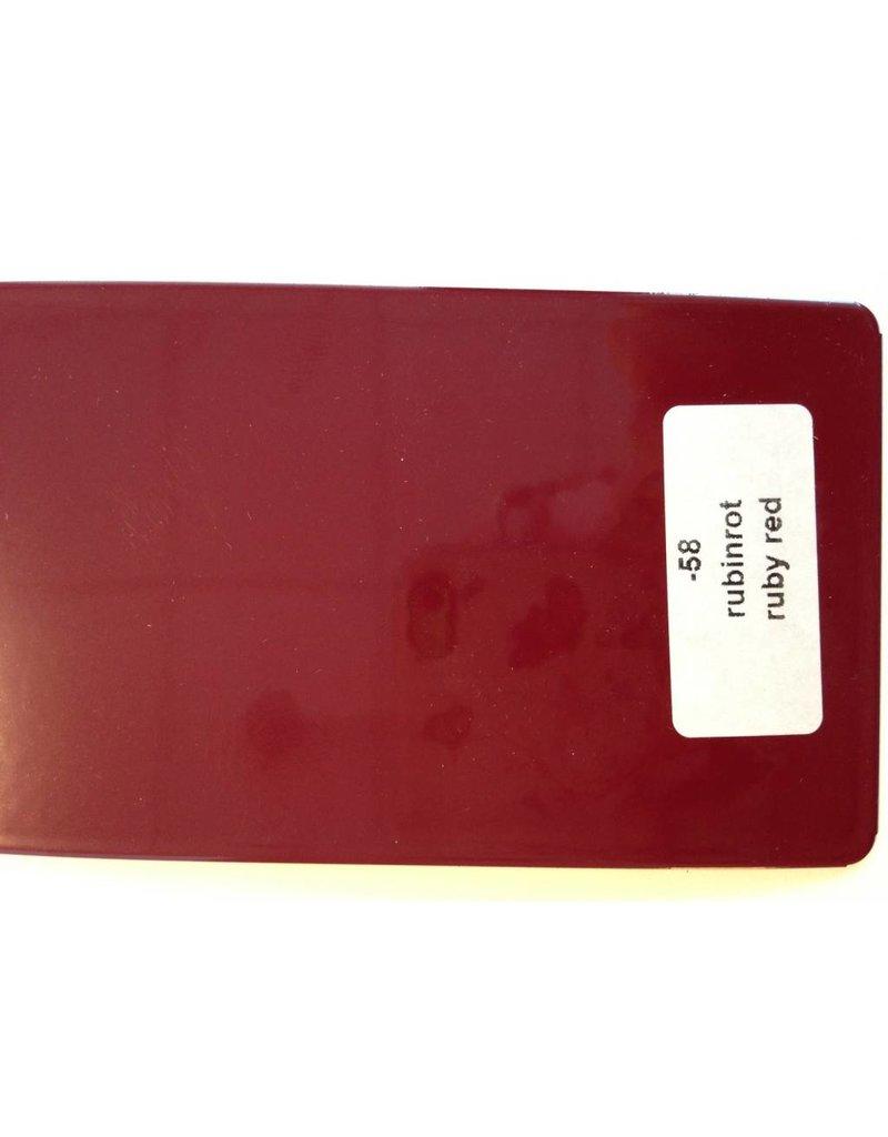 Lakstift in Wesco kleur robijn rood, code 58