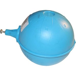 Floating ball (blue) for floater in vacuum tank