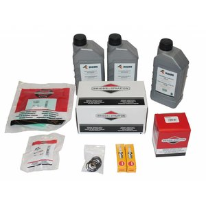 Maintenance kit for periodic service to hp unit with Vanguard® by Briggs & Stratton petrol engine 18hp (SmartTrailer). Complete with filters, motor oil, hp pump oil, spark plugs and inspection list.