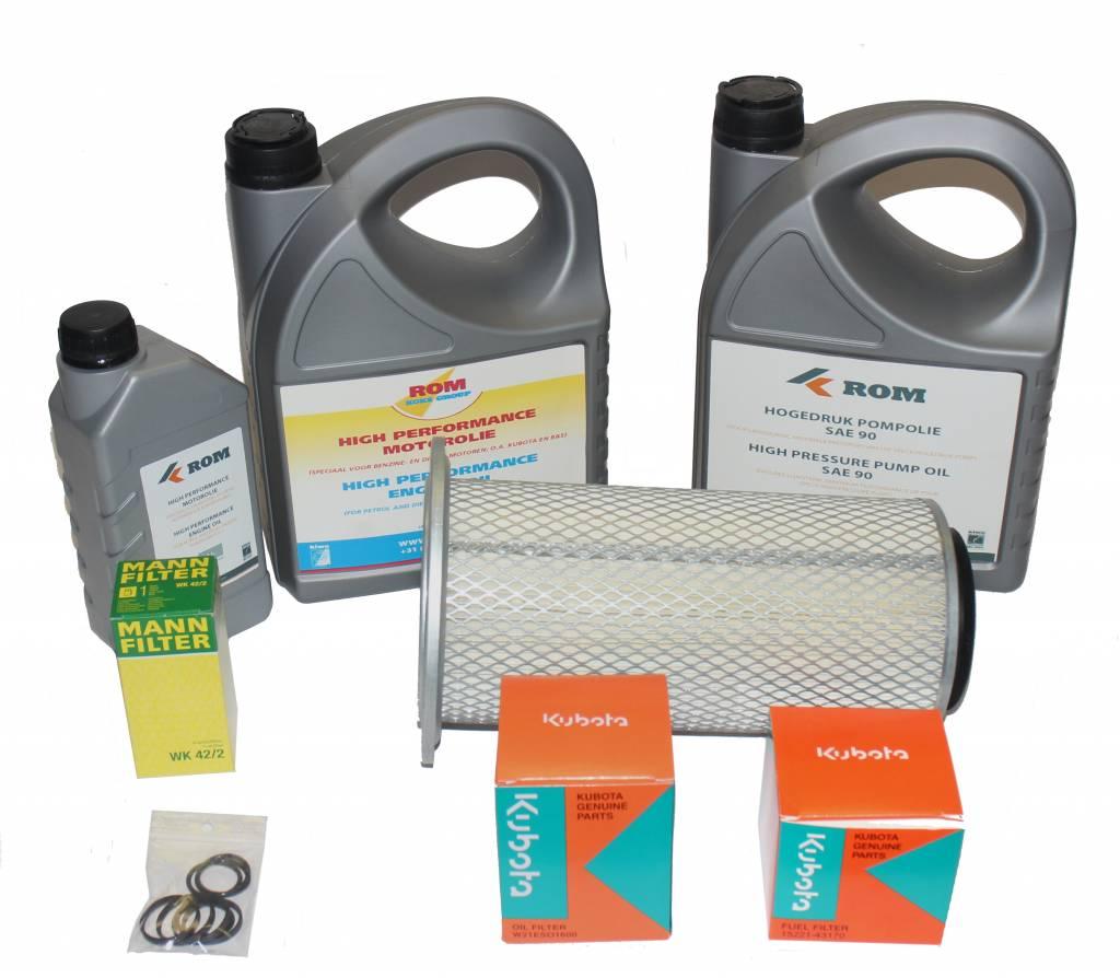 Maintenance kit for periodic service to hp unit with Kubota