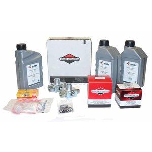 Onderhoudskit voor periodieke service aan HD unit met Vanguard® by Briggs & Stratton benzinemotor 20-23pk (COMPACT <2010). Compleet geleverd met filters, motorolie, HD pompolie, bougies, 3weg 1/2'' drukbedieningskraan en inspectielijst.