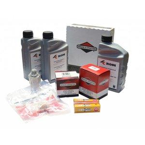 Onderhoudskit voor periodieke service aan HD unit met Vanguard® by Briggs & Stratton benzinemotor 20-23pk (SmartTrailer&PRO)Compleet geleverd met filters, motorolie, HD pompolie, bougies en inspectielijst.