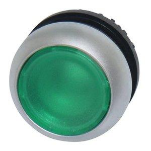 Drukknop element transparant groen voor LED indicatie
