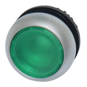 Push button element transparent green for LED indication