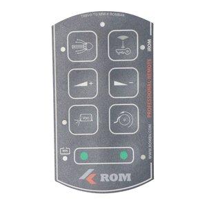 Tele Radio ROM folie voor 8 knops Professional-Remote handzender met iROM systeem