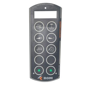 Tele Radio ROM folie voor 10 knops HeavyDuty-Remote handzender