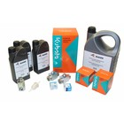 Maintenance kit for periodic service to EcoFit with Kubota V1505(T) engine (>75 Ltr).  Complete with filters, motor oil, HP pump oil, two way 3/4'' pressure regulator valves, external swivel and inspection list.