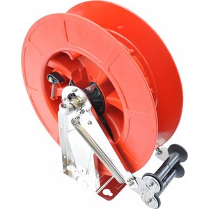 Stainless steel / ABS hp hose reel  with automatic winding system. Delivered excluding hose.
