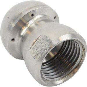 Standaard spuitkop met voorstraal (33) 1/2'' RVS<br /> (33112-5)