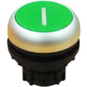 Push button element green